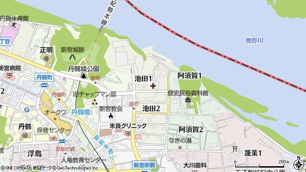 〒647-0021 和歌山県新宮市池田の地図