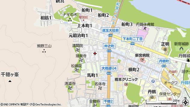 〒647-0006 和歌山県新宮市薬師町の地図