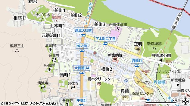 〒647-0018 和歌山県新宮市仲之町の地図