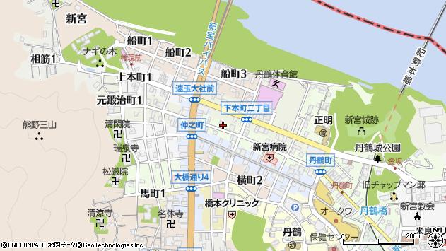〒647-0019 和歌山県新宮市新町の地図