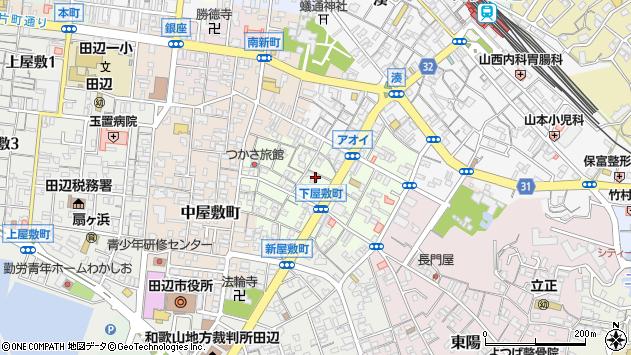 〒646-0032 和歌山県田辺市下屋敷町の地図