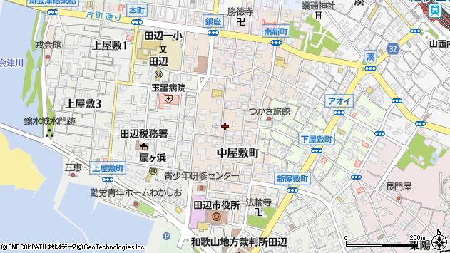 〒646-0035 和歌山県田辺市中屋敷町の地図