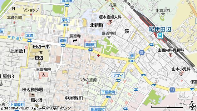 〒646-0042 和歌山県田辺市南新町の地図