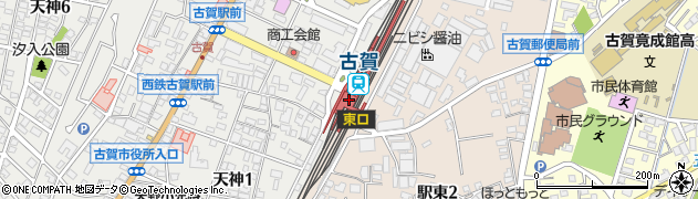 福岡県古賀市周辺の地図