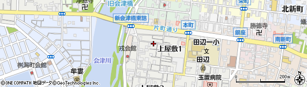 和歌山県田辺市上屋敷周辺の地図