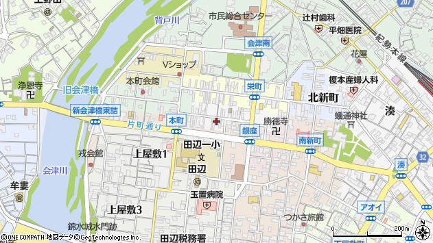 〒646-0044 和歌山県田辺市福路町の地図