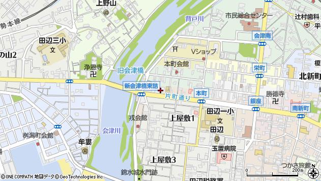 〒646-0045 和歌山県田辺市片町の地図