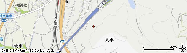 愛媛県伊予市市場周辺の地図