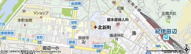 和歌山県田辺市北新町周辺の地図