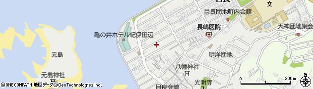 和歌山県田辺市目良周辺の地図