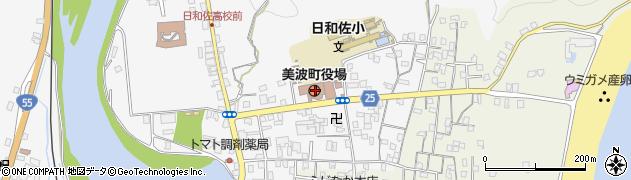 徳島県海部郡美波町周辺の地図