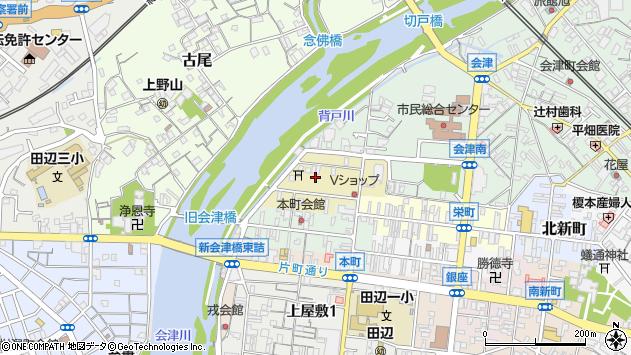〒646-0047 和歌山県田辺市紺屋町の地図