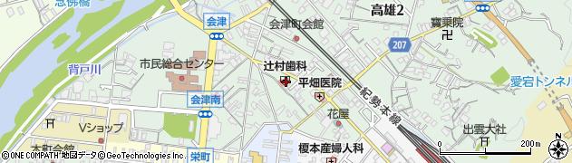 和歌山県田辺市高雄周辺の地図