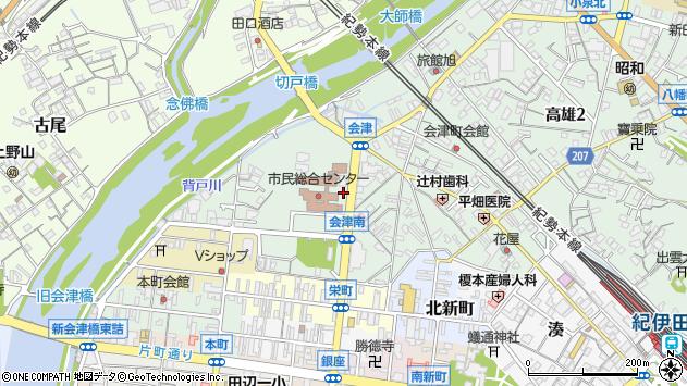 〒646-0028 和歌山県田辺市高雄の地図