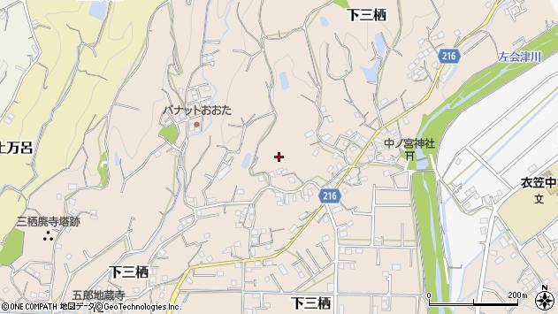 〒646-0216 和歌山県田辺市下三栖の地図
