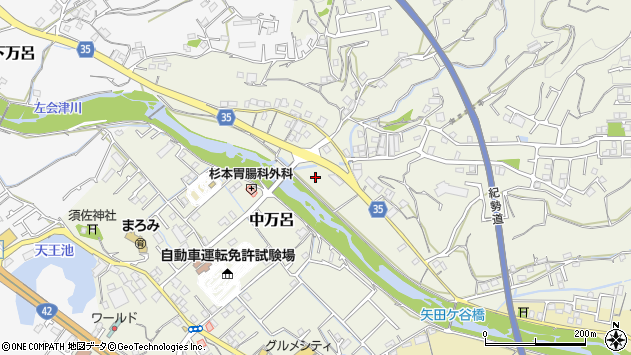 〒646-0003 和歌山県田辺市中万呂の地図