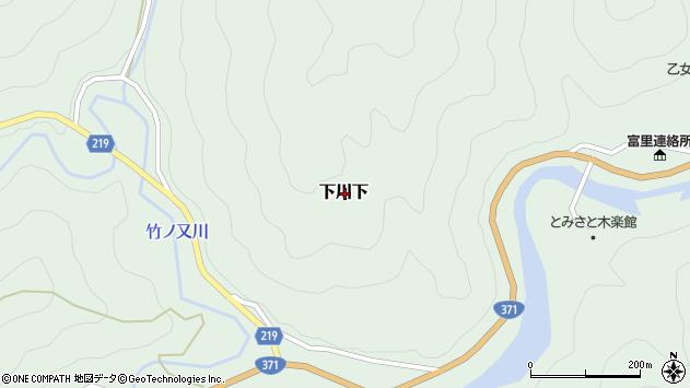〒646-1213 和歌山県田辺市下川下の地図