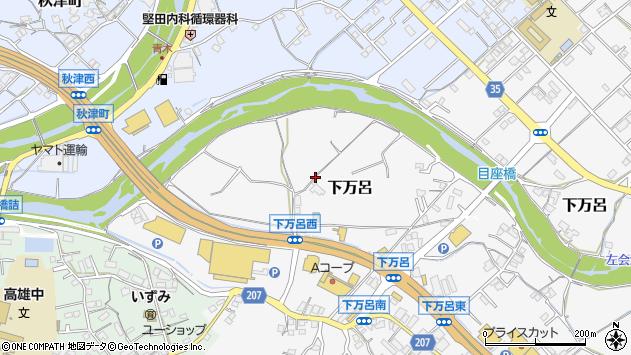 〒646-0004 和歌山県田辺市下万呂の地図