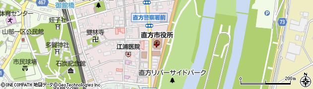 福岡県直方市周辺の地図