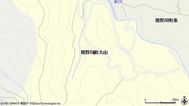 〒647-1203 和歌山県新宮市熊野川町大山の地図