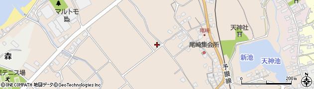 愛媛県伊予市尾崎周辺の地図