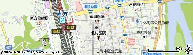 福岡県直方市古町周辺の地図