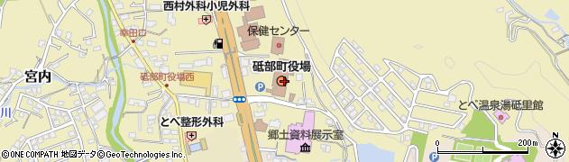 愛媛県伊予郡砥部町周辺の地図