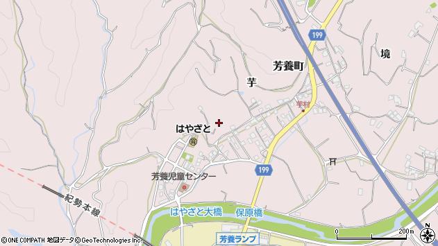 〒646-0056 和歌山県田辺市芳養町の地図
