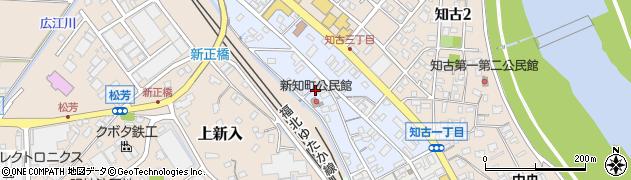 福岡県直方市新知町周辺の地図