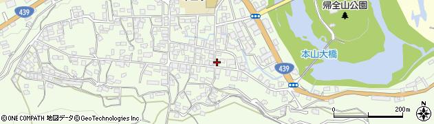 高知県長岡郡本山町本山周辺の地図