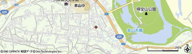 高知県長岡郡本山町周辺の地図