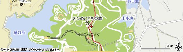 えひめこどもの城周辺の地図