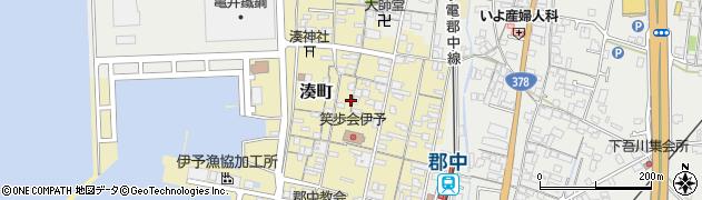 愛媛県伊予市湊町周辺の地図