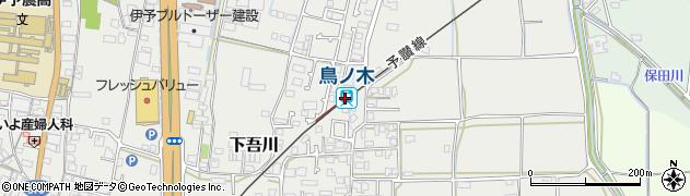 愛媛県伊予市周辺の地図