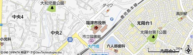 福岡県福津市周辺の地図