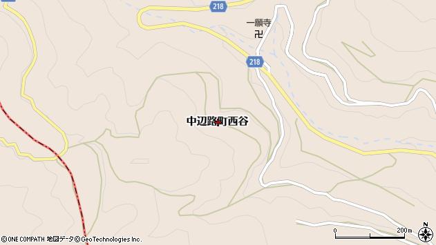 〒646-1414 和歌山県田辺市中辺路町西谷の地図