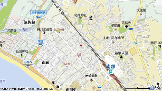 〒645-0006 和歌山県日高郡みなべ町北道の地図
