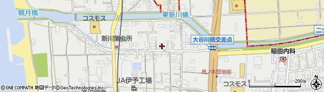愛媛県伊予市下吾川周辺の地図