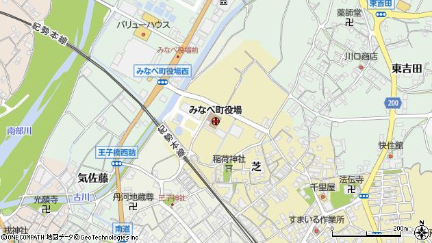 〒645-0000 和歌山県日高郡みなべ町(以下に掲載がない場合)の地図