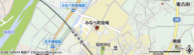 和歌山県みなべ町(日高郡)周辺の地図