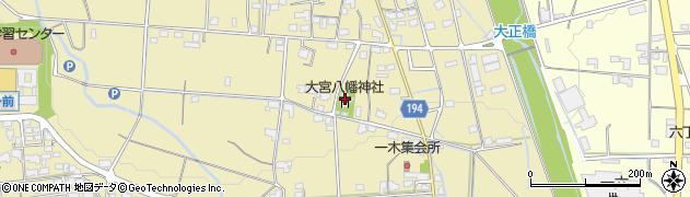 大宮八幡神社周辺の地図