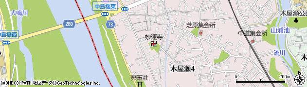 福岡県北九州市八幡西区木屋瀬周辺の地図