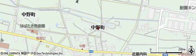 愛媛県松山市中野町周辺の地図