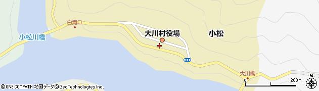 高知県土佐郡大川村周辺の地図