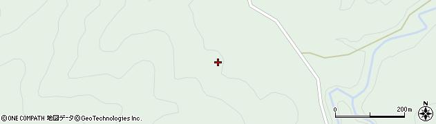 徳島県那賀郡那賀町蔭谷ほうや志き周辺の地図