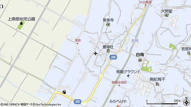 〒645-0022 和歌山県日高郡みなべ町晩稲の地図