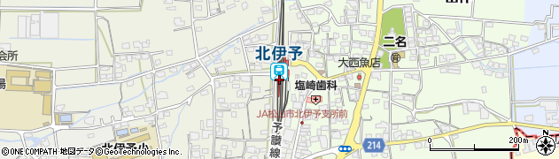 愛媛県伊予郡松前町周辺の地図