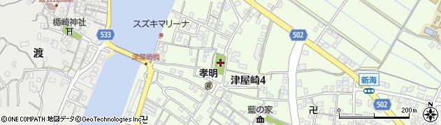 波折神社周辺の地図