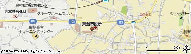 愛媛県東温市周辺の地図