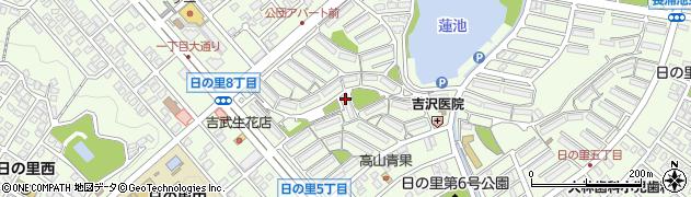 日の里団地周辺の地図